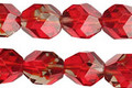 Czech Glass Candied Apple Faceted Nugget 10x9mm