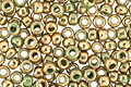 TOHO Gilded Marble Green Round 11/0 Seed Bead