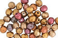 Czech Fire Polished Glass Matte Metallic Gold Copper Iris Round 4mm