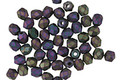 Czech Fire Polished Glass Matte Iris Purple Round 3mm