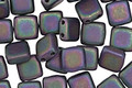 CzechMates Glass Matte Iris Purple 2-Hole Tile 6mm