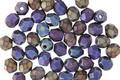 Czech Fire Polished Glass Matte Iris Blue Round 4mm