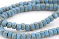 Czech Glass Alice Blue Picasso Trica Beads 3x4mm