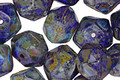 Czech Glass Earth Picasso English Cut Bead 8x10mm