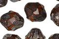 Czech Glass Topaz Baroque Bicone 13x11mm