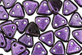 CzechMates Glass Polychrome Black Currant 2-Hole Triangle 6mm