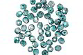 Czech Glass Mirror Teal Fire Polished Round 2mm