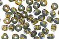Czech Glass Rocky Shore Trica Beads 2.5x4mm