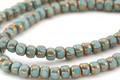 Czech Glass Bronzed Green Turquoise Trica Beads 2.5x4mm