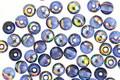 Czech Glass Sapphire AB Round Druk 4mm