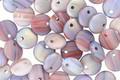 Czech Glass Matte Berry Mix AB Top Drilled Lentil 6mm