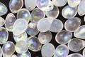 Czech Glass White Opal & Crystal AB Teardrop 5x7mm