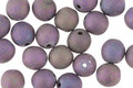 Czech Glass Matte Iris Purple Round Druk 6mm