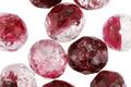 Czech Fire Polished Glass Raspberry Ice Round 10mm