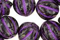 Czech Glass Dark Garden w/ Purple Melon Round 12mm