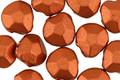 Czech Glass Metallic Copper Faceted Briolette 9x10mm