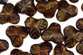 Czech Glass Brown Sugar 3 Point Flower 9mm