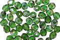 Czech Glass Emerald Celsian Fire Polished Round 4mm