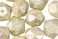 Czech Glass Ivory w/ Mercury English Cut Bead 8x10mm