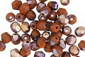 Czech Fire Polished Glass Matte Apollo Umber Round 4mm