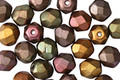 Czech Fire Polished Glass Autumn Metallics Round 6mm