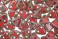 CzechMates Glass Opaque Red Picasso 2-Hole Triangle 6mm