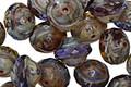 Czech Glass Purple Rain w/ Picasso UFO 7x9mm
