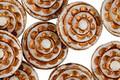 Czech Glass Bronzed Ivory Spiral Coin 13mm