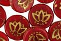 Czech Glass Bronzed Cherry Lotus Coin 14mm