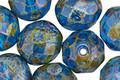 Czech Fire Polished Glass Capri Picasso Round 12mm