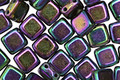 CzechMates Glass Iris Purple 2-Hole Tile 6mm