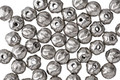 Czech Glass Antique Silver Melon Round 4mm