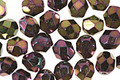 Czech Fire Polished Glass Iris Purple Round 6mm