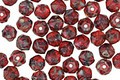Czech Glass Garnet Picasso English Cut Bead 4mm