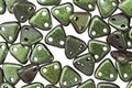 CzechMates Glass Polychrome Olive Mauve 2-Hole Triangle 6mm