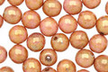 Czech Glass Luster Opaque Rose/Gold Topaz Round 6mm