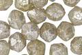 Czech Glass Champagne w/ Mercury Glass Finish English Cut Bead 6x8mm