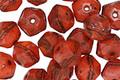 Czech Glass Hyacinth English Cut Bead 6x8mm
