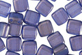 CzechMates Glass Halo Ultramarine 2-Hole Tile 6mm