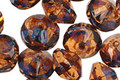 Czech Glass Smoky Topaz Picasso Saucer 7x11mm