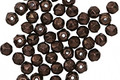 Czech Glass Dark Bronze English Cut Round 3mm