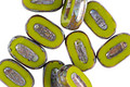 Czech Glass Avocado Picasso Carved Oval 10x6mm
