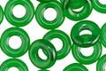 Czech Glass Emerald Ring 9mm