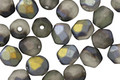 Czech Fire Polished Glass Matte Grey w/ AB Finish Round 6mm