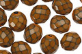 Czech Fire Polished Glass Brown Round Snake Beads 8mm