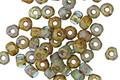 Czech Glass Beach Glass Picasso Trica Beads 2.5x4mm