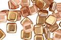CzechMates Glass Apollo (Gold) 2-Hole Tile 6mm