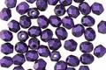 Czech Glass Deep Purple Metallic Suede Fire Polished Round 4mm