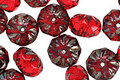 Czech Glass Garnet Picasso Cruller 6x9mm