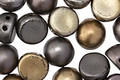 CzechMates Glass Matte Metallic Leather 2-Hole Cabochon 7mm